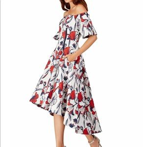 BELLE BADGLEY MISCHKA Off-Shoulder High-Low Gown